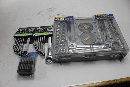 Pittsburgh Ratcheting Wrench Set, Alltrade Sock, Bit Driver Set