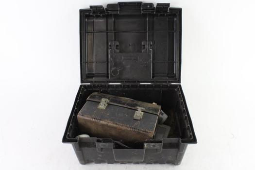 Plano Tool Box With Soldering Gun And More, 5+ Pieces