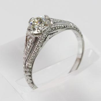 Platinum 0.85ct TW Diamond Ring - Evaluated By Independent Specialist