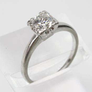 Platinum 1.06ct TW Round Brilliant Cut Diamond Ring - Evaluated By Independent Specialist