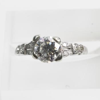 Platinum 1.28ct TW Diamond Ring - Evaluated By Independent Specialist