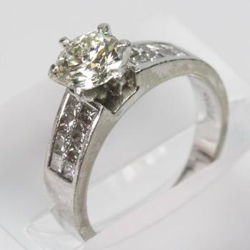 Platinum 1.70ct TW Diamond Ring - Evaluated By Independent Specialist
