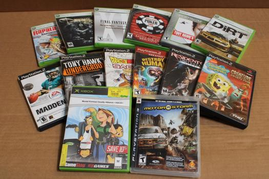 Playstation 2 And 3, Xbox Games, 14 Pieces