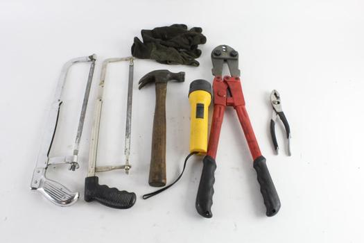 Pliers, Hammer, And More, 7 Pieces