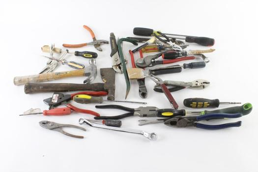 Pliers, Screw Drivers, And More, 10+ Pieces