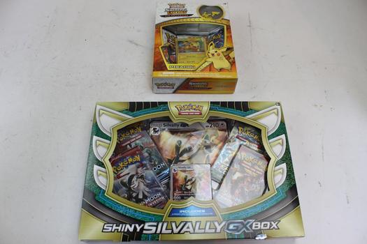Pokemon Trading Cards: Shining Silvally Gx Box, Shining Legends Pikachu: 2 Items
