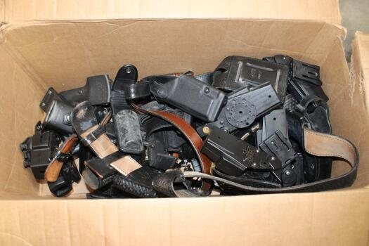Police Belts And Holsters Bulk Lot 20+ Pieces