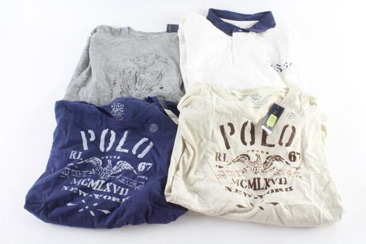 Polo By Ralph Lauren T-Shirts And Polo Shirts, Size XL, 2XL, 4 Pieces