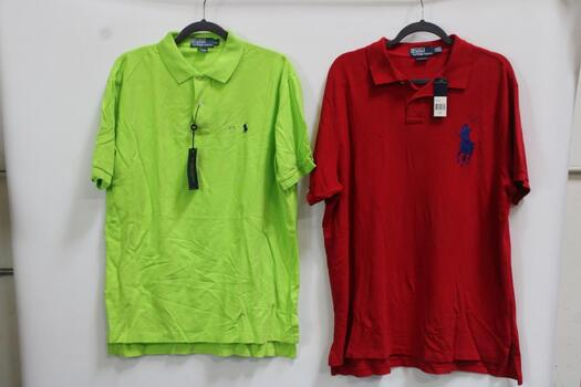 Polo Ralph Lauren Callared Shirts 1 Red XXL /  1 Neon Green L