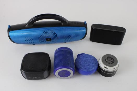 Portable Bluetooth Speaker Variety, 4+ Pieces