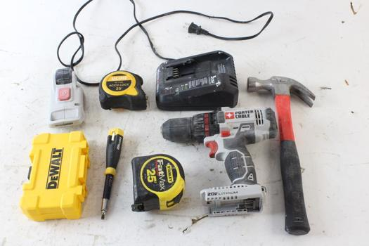 Porter Cable Cordless Drill And More, 5 Pieces