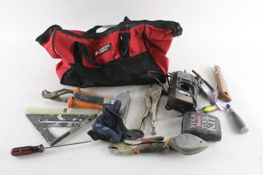 Porter Cable Tool Bag With Tools, 10+ Pieces