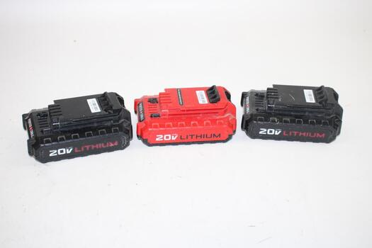 Porter-Cable  Lithium-Ion Battery, 20 V - 3 Pack
