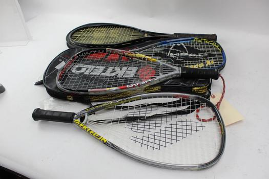 Prince, Head And More Tennis And Racquetball Racquets, 4 Pieces