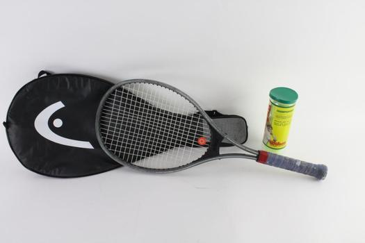 Prince Tennis Racquet With Wilson Tennis Balls, 2 Pieces