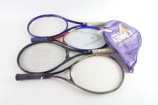 Pro Kennex And Other Tennis Racquets, 4 Pieces