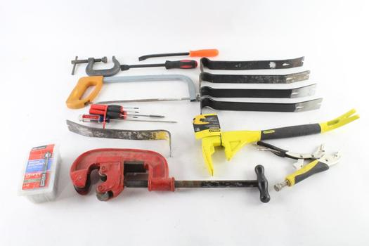 Pry-Bars, Screwdrivers And More, 10+ Pieces