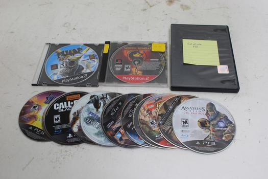 PS2, Ps3 Games, 10+  Pieces