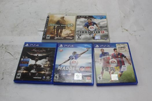 PS3 And PS4 Games, 5 Pieces