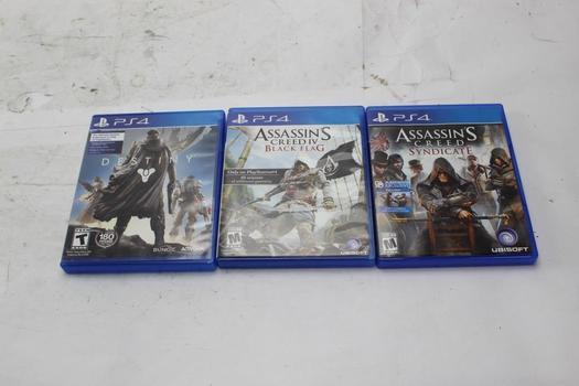 PS4 Games, 3 Pieces