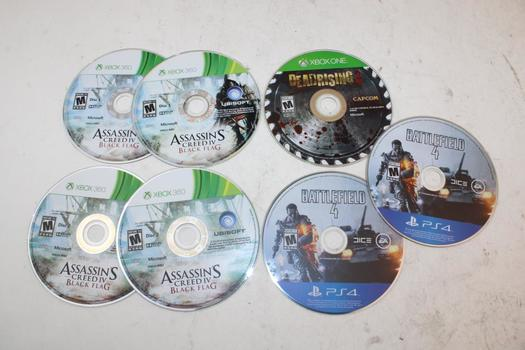 PS4, Xbox 360, & Xbox One Assorted Games; 7 Pieces