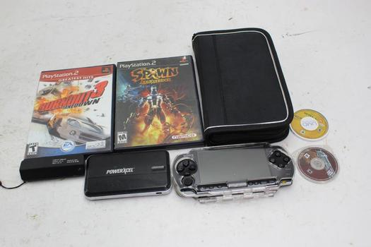 PSP Portable Game, Ps2 Games, + More 7 Pieces