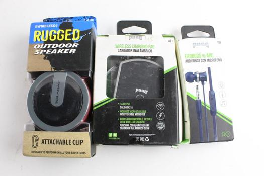 Pugs Wireless Charging Pad And More, 3 Pieces