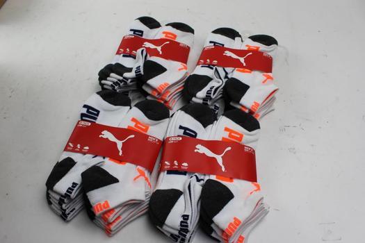 Puma Men's Socks, 4 Pieces