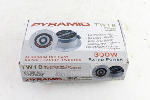 "Pyramid 3-1/4"" Bullet Orn With 1"" Super Tweeters, 2 Pieces"