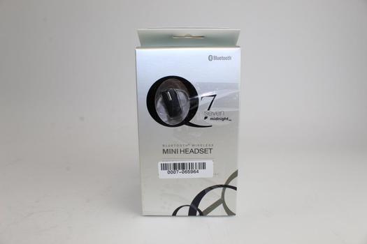 Quikcell Q7 Midnight Bluetooth Wireless Mini Headset, Lot Of 3