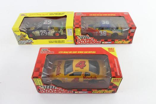 Racing Champions Die Cast Racing Cars, 3 Pieces