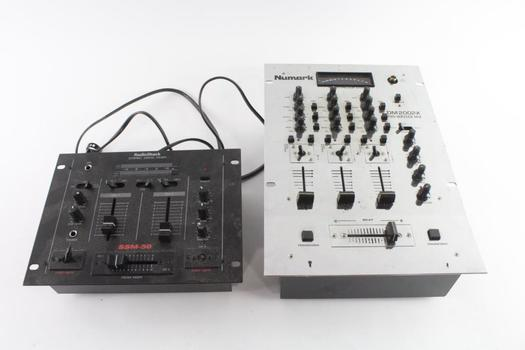 Radioshack Stereo Disco Mixer And Numark Pro Master Mix, 2 Pieces