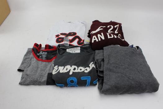 Ralph Lauren, Hollister, Lrg+ More Shirts, Size S/M, 5 Pieces