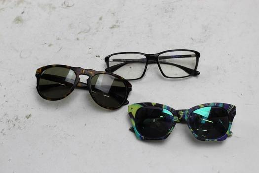 Ray Ban, Persol+ More Sunglasses And Eyeglasses Bulk Lot,  3 Pieces