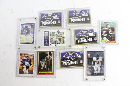 Ray Lewis And Other NFL Cards, 10 Pieces