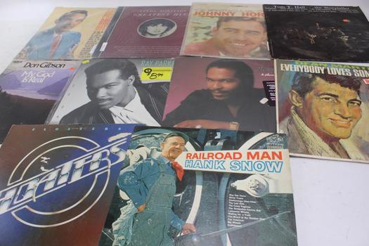 Ray Price, Johnny Horton, Don Gibson + More Vinyl Records 10 Pieces