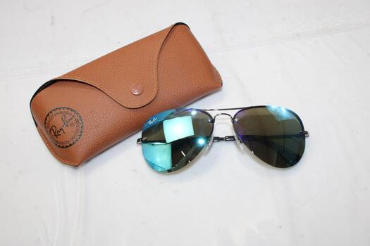 Ray-Ban AVIATOR MIRROR Sunglasses With Case
