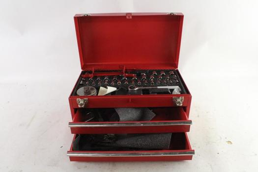 Red Tool Box With Tools, 10+ Pieces