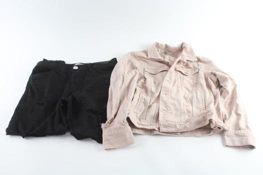 Refuge Denim Jacket Size M And Refuge Skinny Boyfriend Pants Size 14, 2 Pieces