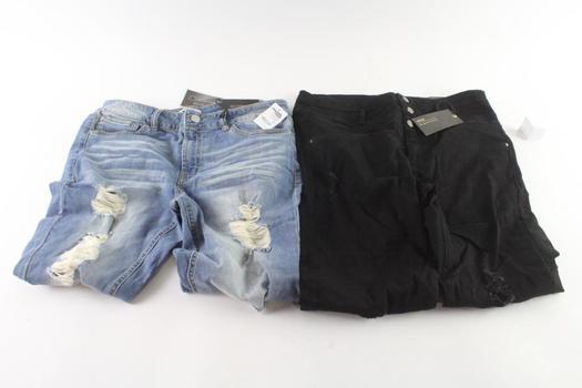 Refuge Skinny Boyfriend And Hi-Waist Skinny Jeans Size 14, 2 Pieces