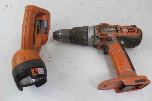 Ridgid Drill & Work Light; 2 Pieces