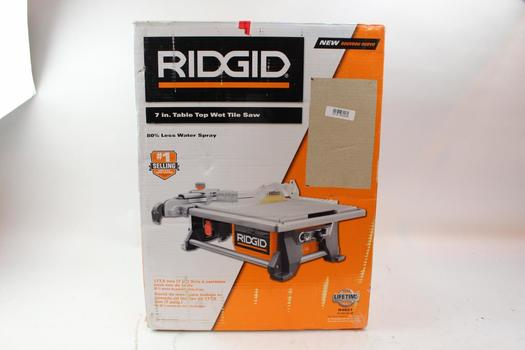 Ridgid R4021 7 Inch Table Top Wet Tile Saw