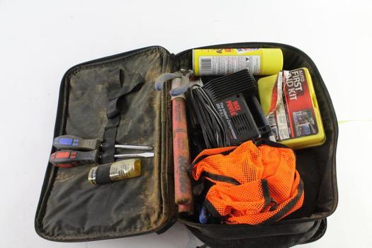 Roadside Emergency Kit, 10+ Pieces