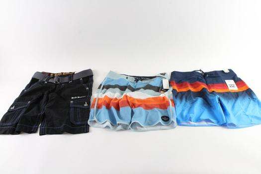 Rock Revivial And Other Brand Shorts, Size 30/23 And 32, 3 Pieces