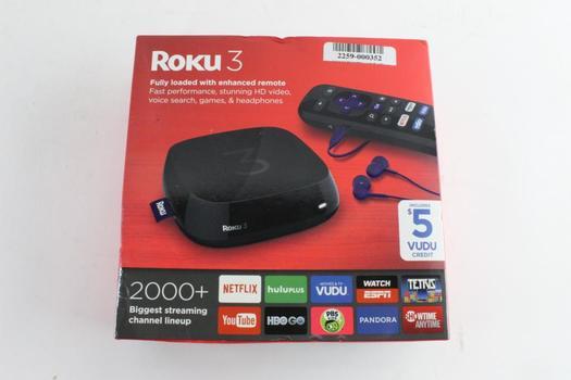 Roku 3 Media Streaming Device