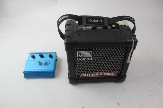 Roland Micro Cube And Deep Blue Rocktron Chorus