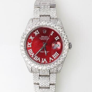 Rolex 17.75ct TW Diamond DateJust II Watch