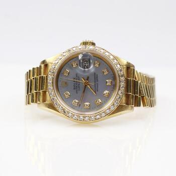 Rolex 18k Gold Diamond DateJust Watch - Evaluated By Independent Specialist