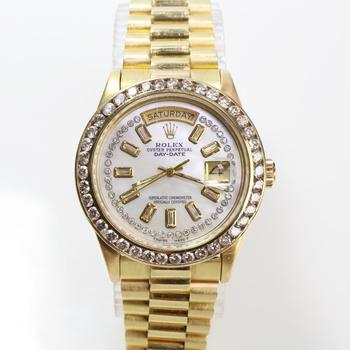 Rolex 18K Gold & Diamond President Watch - Evaluated By Independent Specialist