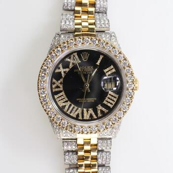 Rolex 9.20ct TW Diamond DateJust Watch - Evaluated By Independent Specialist